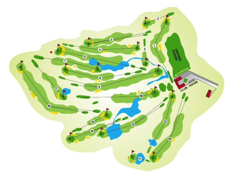 Golf Club Cherasco mappa