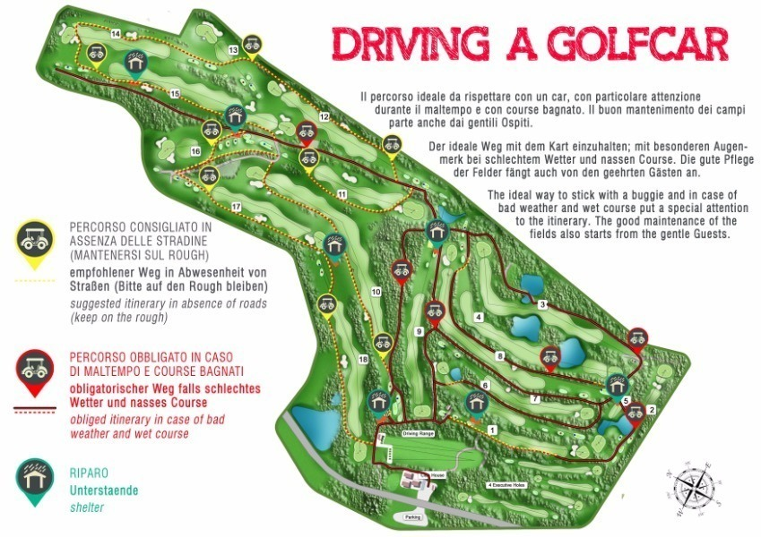 Dolomiti Golf Club mappa