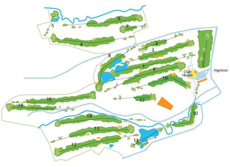 Castell' Arquato Golf Club mappa