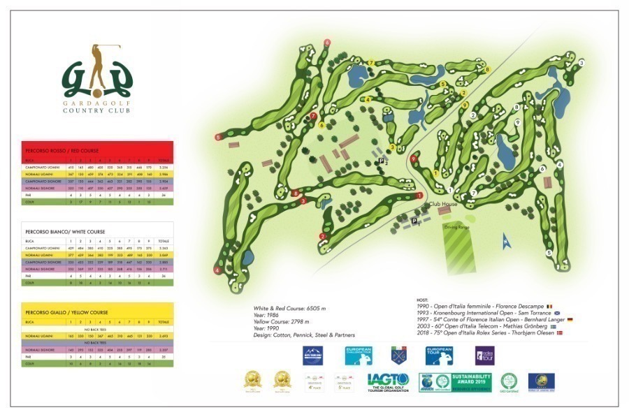 Gardagolf Country Club mappa